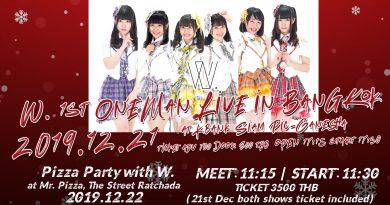 W. 1st One-man Live in Bangkok : Credit Card